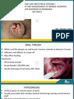 SANDRA, Apollo OBG Minor disorders in neonates PPT - SECTION B.pptx