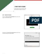 QuickStart - PTF for PC