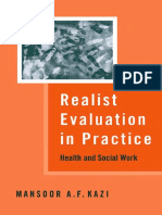 Mr Mansoor A F Kazi - Realist Evaluation in Practice_ Health and Social Work-Sage Publications Ltd (2003)