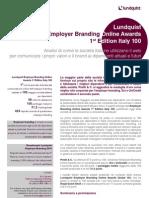 Lundquist Employer Branding Online Awards Italy 100 Executive Summary