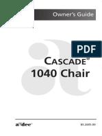 A-Dec Cascade 1040 Dental Chair - User manual.pdf