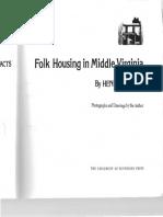 Folk Housing Middle Virginia