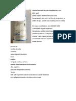 Catálogo Sanitizantes