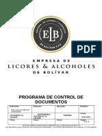 PROGRAMA CONTROL DE DOCUMENTOS