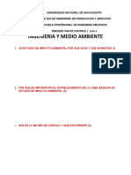 CONTROL 1 TERCERA PARTE ING. y MEDIO AMBIENTE