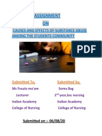 Cause and effects of substance abuse among the students community480.docx