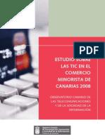 Estudio sobre las TIC en el comercio minorista de Canarias 2008