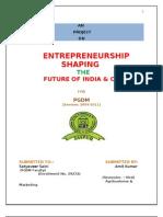 AMIT ENTREPRENEURSHIP SHAPING THE FUTURE OF INDIA