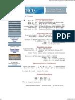 Boiler Formulas