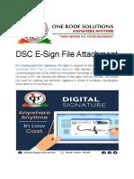 DSC E-Sign File Attachment