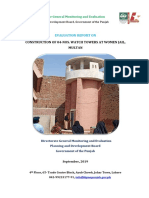 Project ID681 Eval. Report on Construction of 04 Nos. Watch Towers at Women Jail, Multan