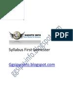 Syllabus First Semester