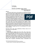 Globalization and White Collar Crimes