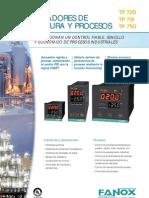 Controladores de temperaturas y procesos