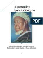 Undestanding the Faydhah Tijâniyyah