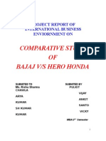 analysis of bajaj & hero honda company""