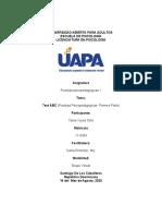 TAREA  4 DE  PRUEBAS PSICOPEDAGOGICAS
