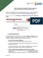 Instructivo Prestadores EI-SIPI 2018