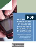 Estudio - Oportunidad en la creacion de un cluster TIC en Canarias 2008