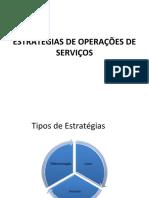 ESTRATÉGIAS DE OPERAÇÕES DE SERVIÇOS