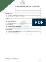 Tema 1 Bioelementos y biomoléculas inorgánicas.