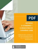 Estudio eGobierno / eDemocracia Canarias 2008