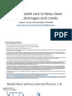 Design basket rack to keep clean rivers