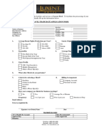 Travel Trade Rate Application Form