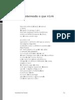 Coletânea de poemas. Antevendo o que vira