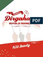 Poster Hari Ulang Tahun Indonesia Abu-Abu