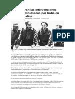 Intervenciones militares de Cuba