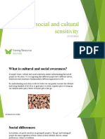 Show social and cultural sensitivity - SITXCOM002 - Powerpoint