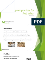 Use hygienic practices for food safety SITXFSA001- Powerpoint