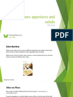 Prepare appetisers and salads SITHCCC006 - Powerpoint