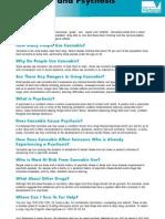 Cannabis & Psychosis - Fact Sheet