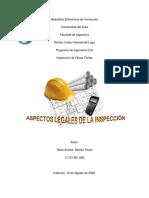 Aspectos Legales de La Inspeccion de Obras en Venezuela