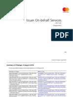 Issuer On-Behalf Services