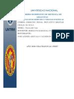 Teoría del caso. Trabajo de Derecho Penal Privativo Militar.docx