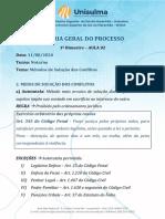 AULA 02 - TGP Noturno - 1 Bimestre - Solução de Conflitos