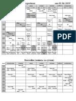 НОВОЕ Расписание 2018 - 2019  Фитнес+Бассейн 01.09