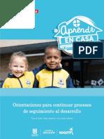 Cartilla 2.Orientaciones para el  seguimiento al desarrollo