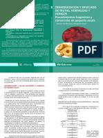 Deshidratación y desecado de frutas, hortalizas y hongos