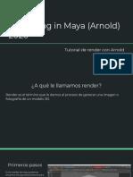 Render en maya via ARNOLD