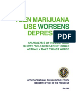 Teen Marijuana Use Worsens Depression - ONDCP