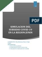 SIMULACION DEL SUBSIDIO COVID-19 EN LA REGION JUNIN-INFORME