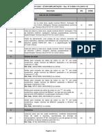 S-SGN-1-PJ-LM-01-1B LISTA DE MATERIAIS - MALHA DE ATERRAMENTO