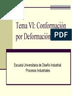 Tema 6 - Conformacion Por Deformacion (I) (Diapositivas)