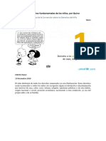 10 derechos fundamentales de los niños, por Quino
