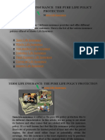 Term life insurance- the pure life policy protection