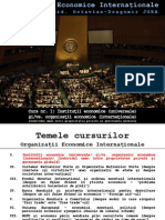Organizatii Economice Internationale - Curs 1 - Octavian Jora